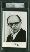 Menachem Begin Signed 3.5x5 Photo (PSA Encapsulated) at PristineAuction.com