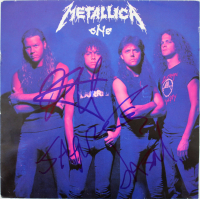 """Metallica """"One"""" Vinyl Record Album Signed by (4) with James Hetfield, Kirk Hammett, Lars Ulrich & Jason Newsted (Beckett LOA) at PristineAuction.com"""