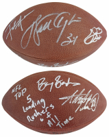 "Official NFL Football Signed by (5) with Walter Payton, Emmitt Smith, Barry Sanders, Frank Gore & Adrian Peterson Inscribed ""NFL Top 5 Leading Rushers Of All Time"" (Beckett LOA) at PristineAuction.com"