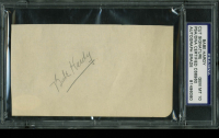 Babe Hardy Signed 3x5.25 Cut (PSA Encapsulated) at PristineAuction.com