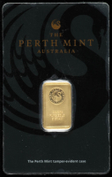 1 Gram Perth Mint Gold Bar in The Perth Mint Card at PristineAuction.com