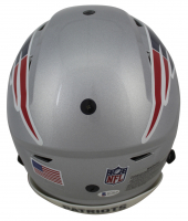 "Randy Moss Signed Patriots Full-Size Authentic On-Field SpeedFlex Helmet Inscribed ""Straight Cash Homie"" & ""HOF 18"" (Beckett COA) at PristineAuction.com"