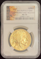 2010 $50 Buffalo Gold Coin - Early Releases (NGC MS 70) at PristineAuction.com