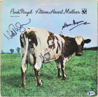 "Roger Waters, Nick Mason & Storm Thorgerson Signed Pink Floyd ""Atom Heart Mother"" Vinyl Record Album Cover (Beckett LOA) at PristineAuction.com"