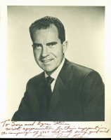 Richard Nixon Signed 8x10 Photo With Extensive Inscription (PSA LOA) at PristineAuction.com