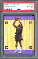 Vince Carter 1998-99 Upper Deck Encore #118 RC (PSA 10) at PristineAuction.com