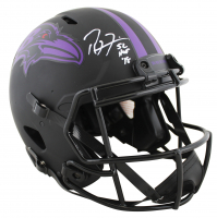 """Ray Lewis & Ed Reed Signed Ravens Full-Size Authentic On-Field Eclipse Alternate Speed Helmet Inscribed """"HOF '18"""" & """"HOF 19"""" (Beckett COA) at PristineAuction.com"""