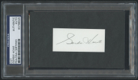 Gordie Howe Signed 1.5x3 Cut (PSA Encapsulated) at PristineAuction.com