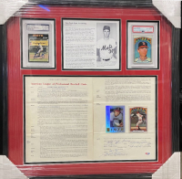 Nolan Ryan, Joe Cronin & Harry Dalton Signed 22.5x23.5 Custom Framed 1972 Angels Contract & Card Display (PSA LOA & PSA Encapsulated) at PristineAuction.com