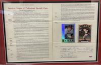 Nolan Ryan, Joe Cronin & Harry Dalton Signed 22.5x23.5 Custom Framed 1972 Angels Contract & Card Display (PSA LOA & PSA Encapsulated) at PristineAuction.com