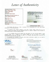 """Tupac Shakur Signed """"Poetic Justice"""" Soundtrack Contract (JSA LOA) at PristineAuction.com"""