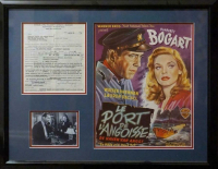 "Humphrey Bogart & Lauren Bacall Signed ""The Petrified Forest"" 23x29 Custom Framed Contract (PSA LOA) at PristineAuction.com"