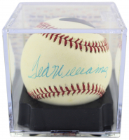 Ted Williams Signed OAL Baseball with Display Case (PSA COA - Overall Grade 8.5) (See Description) at PristineAuction.com