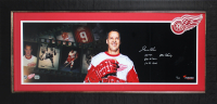 Gordie Howe Signed Red Wings 16.5x35.5 Custom Framed Photo With (3) Inscriptions (Fanatics Hologram) at PristineAuction.com