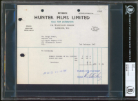 Ringo Starr Signed Receipt (BGS Encapsulated) at PristineAuction.com
