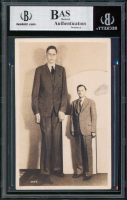 """Robert Wadlow """"World's Tallest Man"""" Signed 3.5x5.5 Postcard (BGS Encapsulated) at PristineAuction.com"""