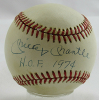 "Mickey Mantle Signed OAL Baseball Inscribed ""H.O.F. 1974"" (PSA LOA) (See Description) at PristineAuction.com"