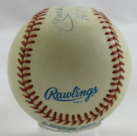 """Mickey Mantle Signed OAL Baseball Inscribed """"H.O.F. 1974"""" (PSA LOA) (See Description) at PristineAuction.com"""