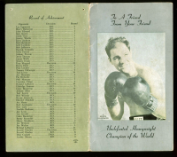 """Rocky Marciano Signed Sports Illustrated Boxing Memorandum Inscribed """"Hope To See You Someday OK"""" (JSA LOA) at PristineAuction.com"""