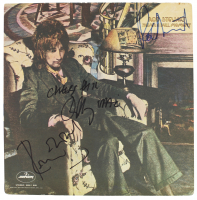 """Rod Stewart, Ronnie Wood & Ian McLagan Signed """"Never A Dull Moment"""" Vinyl Record Album Cover (Beckett LOA) at PristineAuction.com"""