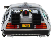 """Christopher Lloyd Signed """"Back to the Future II"""" DeLorean Time Machine 1:24 Scale Die-Cast Car (JSA COA) at PristineAuction.com"""