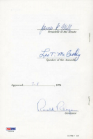 Ronald Reagan Signed 1974 Senate Bill Document (PSA LOA) at PristineAuction.com
