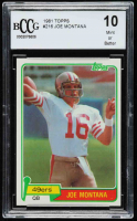 Joe Montana 1981 Topps #216 RC (BCCG 10) at PristineAuction.com