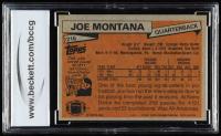 Joe Montana 1981 Topps #216 RC (BCCG 10) at PristineAuction.com