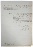 Santa Anna Signed Document (Beckett LOA) (See Description) at PristineAuction.com