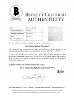 Santa Anna Signed Document (Beckett LOA) (See Description) at PristineAuction.com