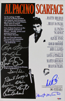 """Scarface"" 11x17 Movie Poster Cast-Signed by (11) with Al Pacino, Steven Bauer, Miriam Colon, Robert Loggia, Caesar Cordova (PSA LOA) at PristineAuction.com"