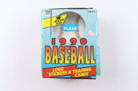 1990 Fleer Baseball Wax Box with (37) Packs (See Description) at PristineAuction.com