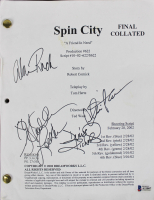 """Spin City"" Script Signed by (4) with Charlie Sheen, Heather Locklear, Alan Ruck & Denise Richards (Beckett LOA) at PristineAuction.com"