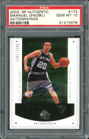 Manu Ginobili 2002-03 SP Authentic #172 Autograph RC (PSA 10) at PristineAuction.com