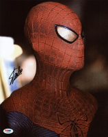"Andrew Garfield & Stan Lee Signed ""The Amazing Spider-Man"" 11x14 Photo (PSA COA) at PristineAuction.com"