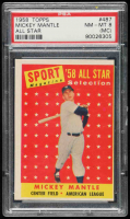 Mickey Mantle 1958 Topps #487 All-Star TP (PSA 8) (MC) at PristineAuction.com