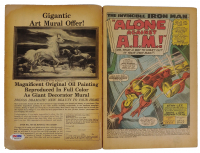 """Stan Lee Signed 1968 """"The Invincible Iron Man"""" Issue #1 Marvel Comic Book (PSA COA) (See Description) at PristineAuction.com"""