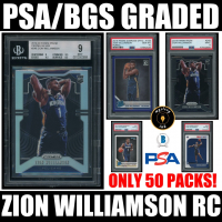 Mystery Ink Zion Williamson PSA/BGS Graded 2019-20 RC Rookie Card Mystery Box! Only 50 Packs Made! at PristineAuction.com