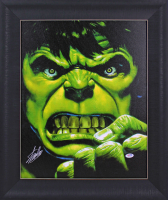 Stan Lee Signed The Hulk 20.5x24.5 Custom Framed Photo Display (PSA COA) at PristineAuction.com