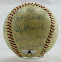 1954 Giants ONL Baseball Signed By (26) With Leo Durocher, Willie Mays (JSA LOA) (See Description) at PristineAuction.com