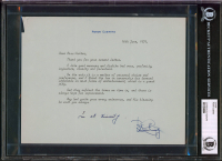 """Peter Cushing Signed 1979 Letter Inscribed """"In All Sincerity"""" (BGS Encapsulated) at PristineAuction.com"""