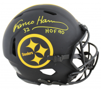 "Franco Harris Signed Steelers Full-Size Authentic On-Field Eclipse Alternate Speed Helmet Inscribed ""HOF 90"" (Beckett COA) at PristineAuction.com"