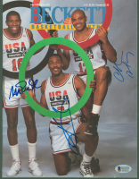 Magic Johnson, Charles Barkley & Karl Malone Signed Team USA 1992 Beckett Magazine (Beckett COA) at PristineAuction.com
