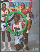 Magic Johnson, Charles Barkley & Karl Malone Signed Team USA 1992 Beckett Magazine (Beckett COA) at PristineAuction.com