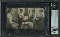 "Paul McCartney, George Harrison & Ringo Starr Signed ""The Beatles"" 2.65x4.5 Photo (BGS Encapsulated) at PristineAuction.com"