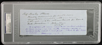 Thomas Huxley Signed 3.5x8.25 Cut With Extensive Inscription (PSA Encapsulated) at PristineAuction.com