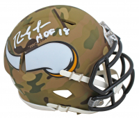 "Randy Moss Signed Vikings Camo Alternate Speed Mini Helmet Inscribed ""HOF 18"" (Beckett COA) at PristineAuction.com"