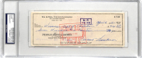 Vince Lombardi Signed 1962 Personal Bank Check (PSA Encapsulated) at PristineAuction.com