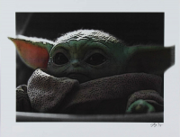 "Grogu / The Child - ""Star Wars"" - Jeff Lang 11x14 Signed Limited Edition Art Print #/5 (PA COA) at PristineAuction.com"