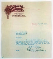 Charles Comiskey Signed 1914 Letter (JSA LOA) (See Description) at PristineAuction.com